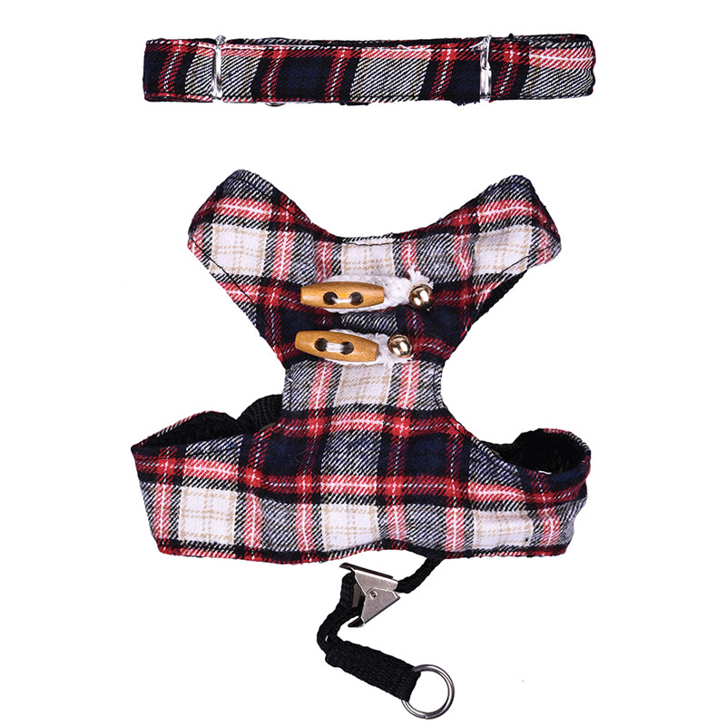 Scottish font b Kilt b font Design Dog Harness Pet Puppy Cat Kitten Vest 125cm Walking
