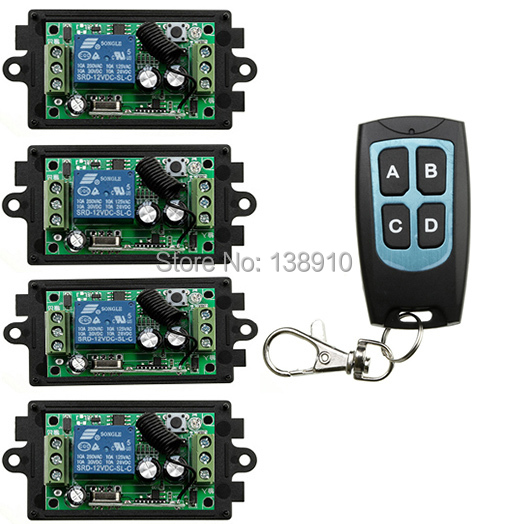 New DC 12V10A Learning Code Wireless Remote Control System 1 Receiver And 1 Transmitter Output Way Adjusted Entrance guard door(China (Mainland))