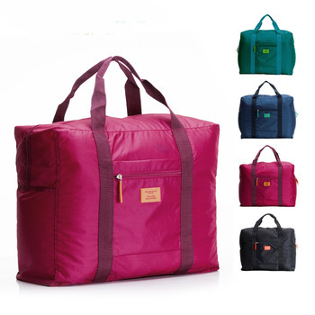 New Arrival 4 Colors Unisex Travel Bags Large Capacity Waterproof Outdoor Hiking Luggage Sport Folding Cotton Fabric Duffle Bag(China (Mainland))