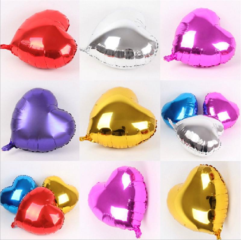 Free shipping 50pcs 10inch heart shape mylar balloon for wedding decoration heart foil balloon(China (Mainland))