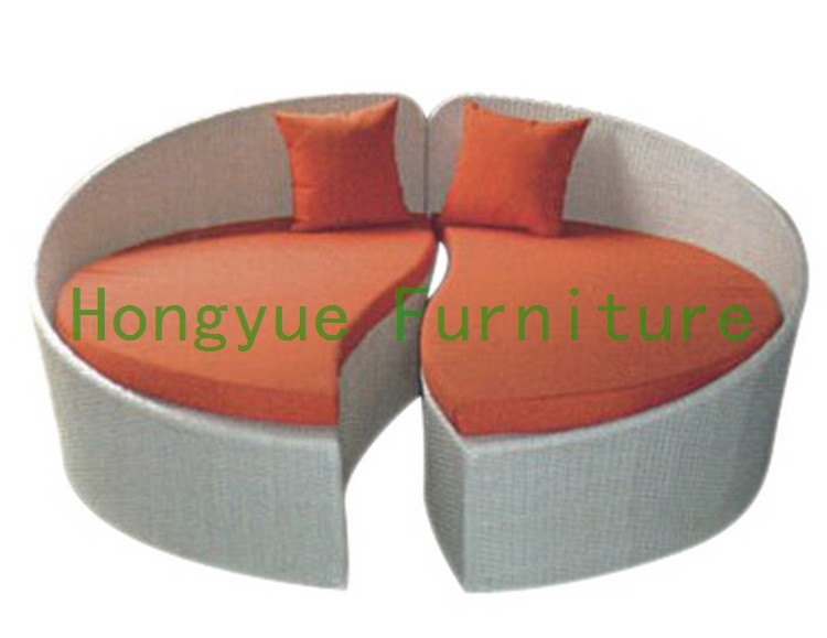 rattan round sectional sofa bed,outdoor furniture(China (Mainland))