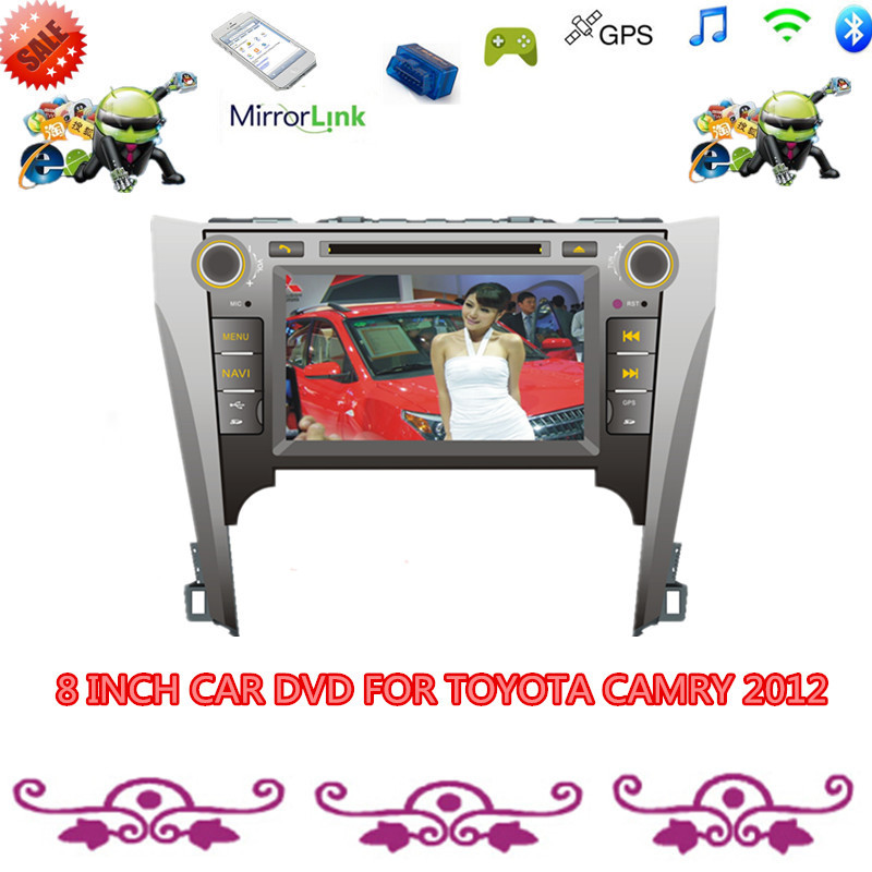 PURE ANDROID 4.4.4 SYSTEM FOR CAR DVD TOYOTA CAMRY 2012 WITH HD:1024*600 FULL TOUCH SCREEN GPS 3G MAP 1(China (Mainland))