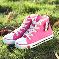 2015YEESHOW Dot Canvas Children Shoes Wearable Princess Shoes For Girls Kids Shoes 3DFlower Chaussure Enfant Girls
