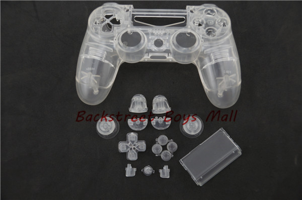 Custom Clear Replacement Shell for Sony PlayStation 4 for PS4 dualshock 4 Controller Wireless With Clear