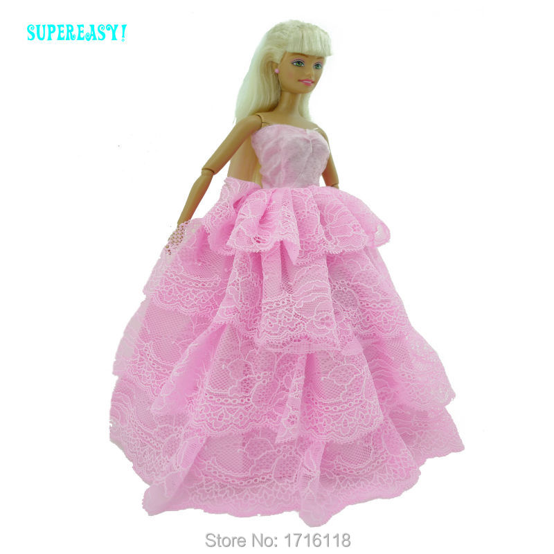 Style Handmade Wedding ceremony Costume Princess Robe Garments For Barbie Doll FR Kurhn 11 12 inch Puppet Lady Play Home Toys Present 043A