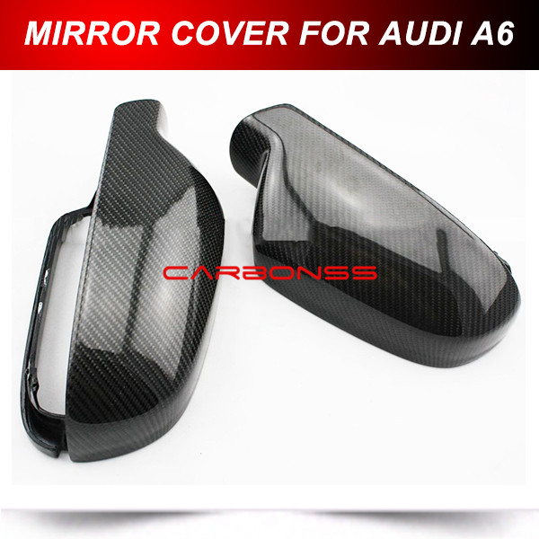 Replacement Side Mirror Covers for Audi A6 S6 RS6 A6 Quattro 13-14 Carbon Fiber<br><br>Aliexpress