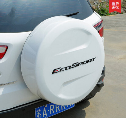 Car Rear Spare Tire ABS Metal Letters Sticker Case for Ford Ecosport 2012 2013 2014 2015 accessories(China (Mainland))
