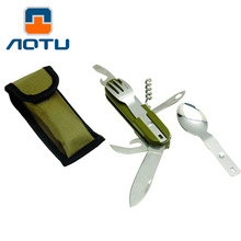 Travel Kit Camping Equipment screwdriver Knife Alloy Aluminum Survival Gear  Spoon Fork