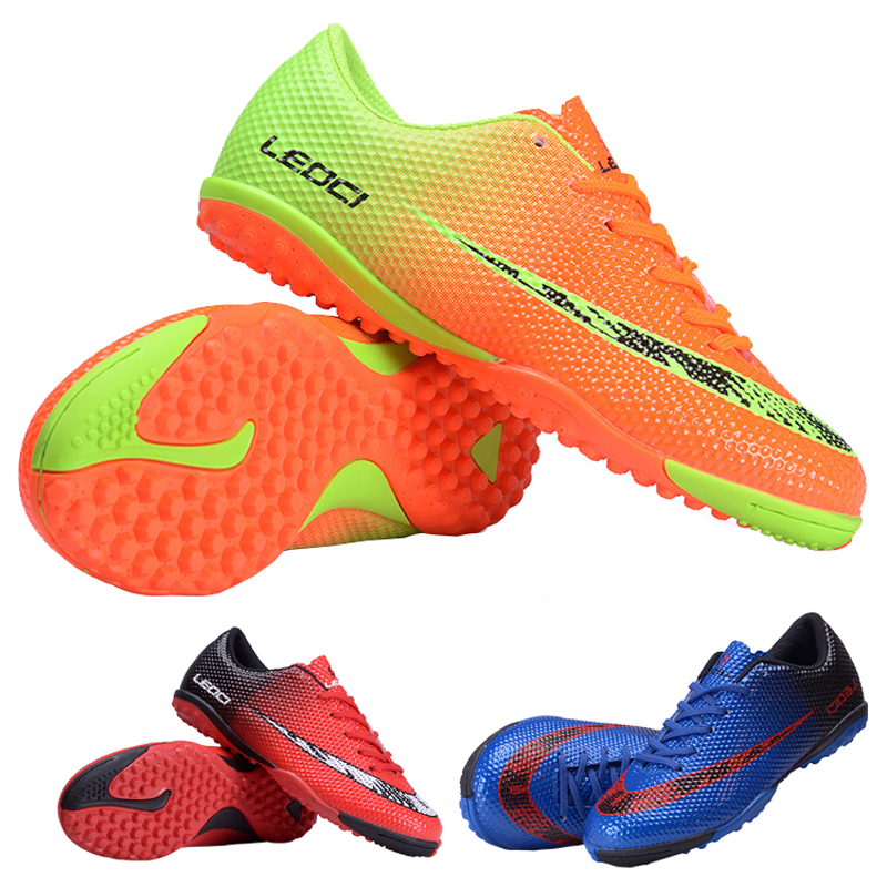 LEOCI Football Shoes boots Unisex Soccer Boot Football Boots indoor football shoe for adult children's 33-44 size Train Sneakers(China (Mainland))