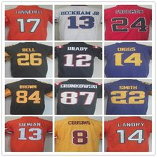 Men's 7 Ben 84 Antonio 26 LE'VEON 13 ODELL 10 ELI 12 Tom 87 Rob 11 Julian 9 Drew 14 STEFON 8 Marcaus new Rush Limited Jersey(China (Mainland))