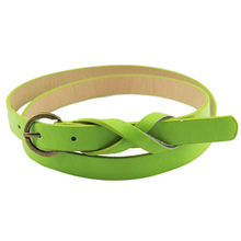 Good-looking Womens PU Leather Ultra-Thin Waist Belt for Women Girl Apparel Accessories
