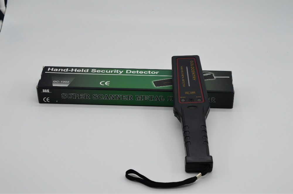 Portable Metal Detector Professional Mini GC1002 Handheld Metal Detector Super Scanner Superscanner with Vibrator(China (Mainland))