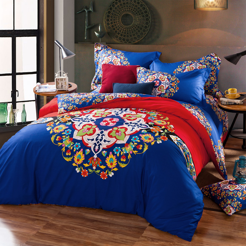 2016 New Arrival Printing 4PCS Bedding Sets Bed Set Duvet Cover/Bed Sheet/Pillowcase Bedding Sets Duvet Cover Ropa De Cama 01(China (Mainland))