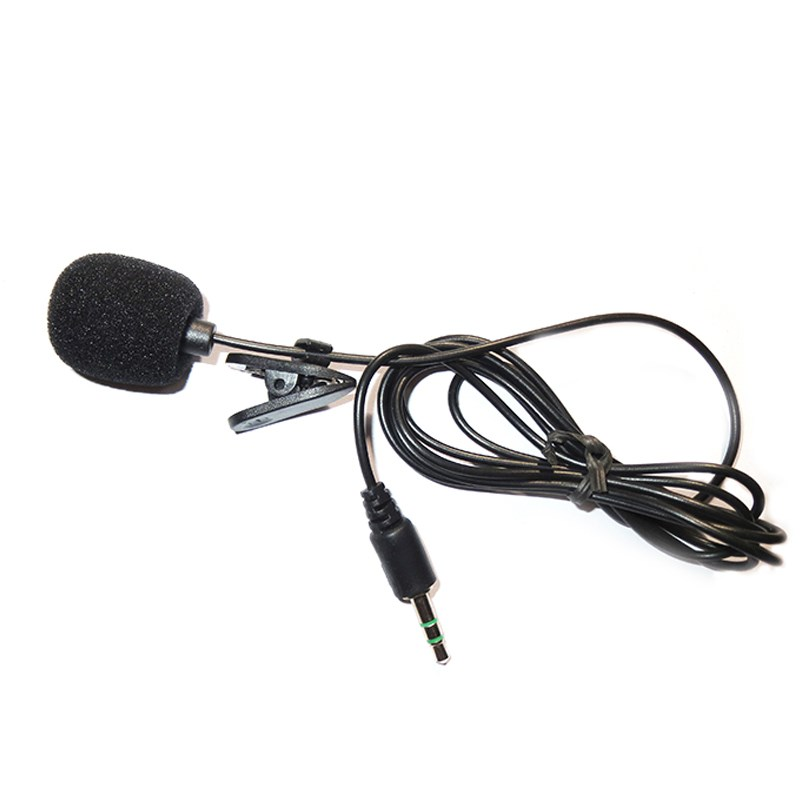 Portable Super Mini 3.5mm Tie Lapel Lavalier Clip On Mic Microphone Hand Free for Laptop PC Length Cable(China (Mainland))