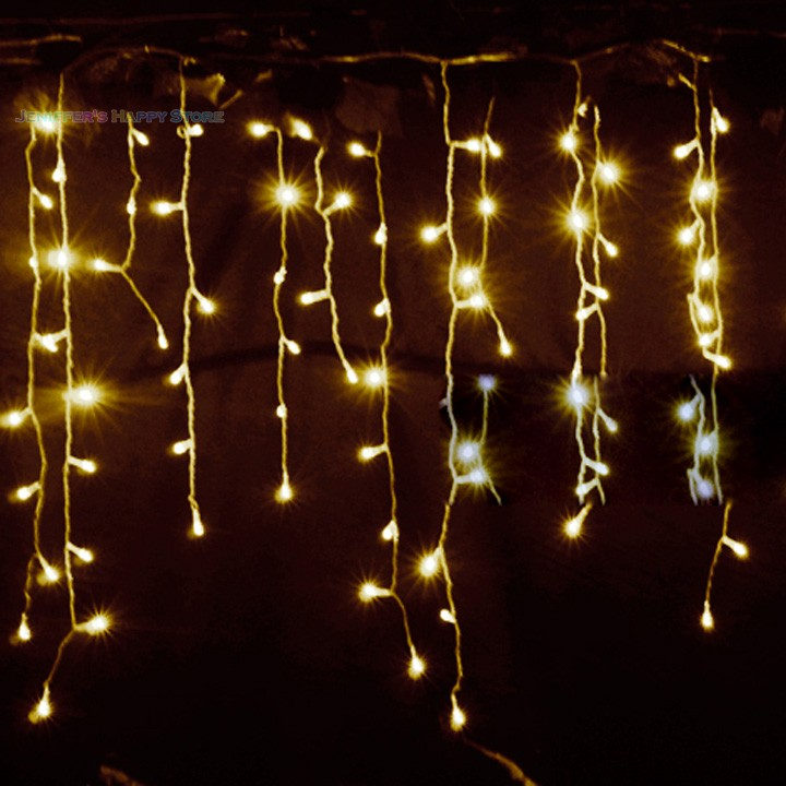 christmas light 3.5m Droop 0.3-0.5m curtain icicle string lights 220V New year christmas led Lights Garden Wedding Party 34<br><br>Aliexpress