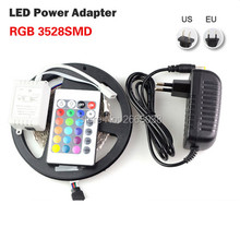 Buy SMD3528 5M 300 LED Strip Ribbon Tape 60LED/M 12V Flexible Fita Light +24Key Remote Controller+12V 2A Power Supply EU / US for $4.33 in AliExpress store