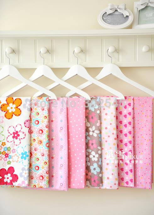 50*40cm 8pcs/lot Baby Pink tilda cotton fabric quarter quilting textile cloth for sewing craft Patchwork Fabric A2-8-2(Hong Kong)