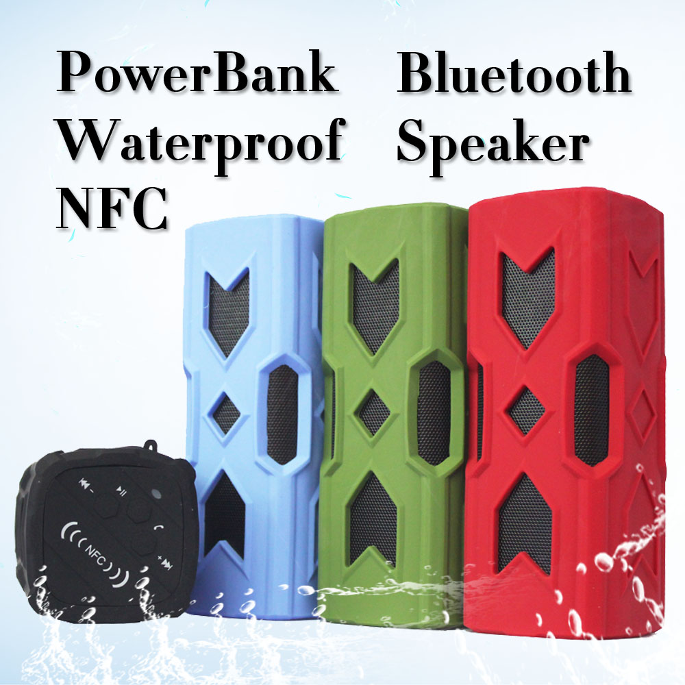 Portable Bluetooth Speaker With Power Bank Function Utralight Metal Bluetooth Speakers With NFC Bluetooth 4.0 For PC Android IOS(China (Mainland))