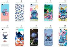Mobile Phone Cases Wholesale 10pcs/lot Stitch Cartoon Design Protective White Hard Case For Iphone 6 6th Free Shipping