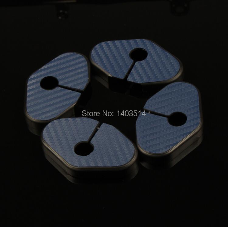 carbon fiber Car Door Lock Protective Cover Striker Hook For CHEVROLET MALIBU CRUZE AVEO CAMARO Volt(China (Mainland))