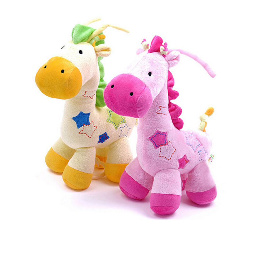 Baby Plush Toys : Baby plush toys with bell giraffe toy stuffed