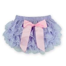 Pink Bow Newborn Shorts,Purple Toddler Shorts,Satin Panties,Chiffon Diaper Cover,Lace Bloomers Baby Shorts Baby Clothing #7G1003(China (Mainland))