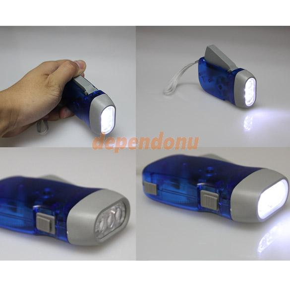 Hand Press Flashlight Torch No Battery 3 LED New EMS DHL Free Shipping New Arrival Promotion(China (Mainland))