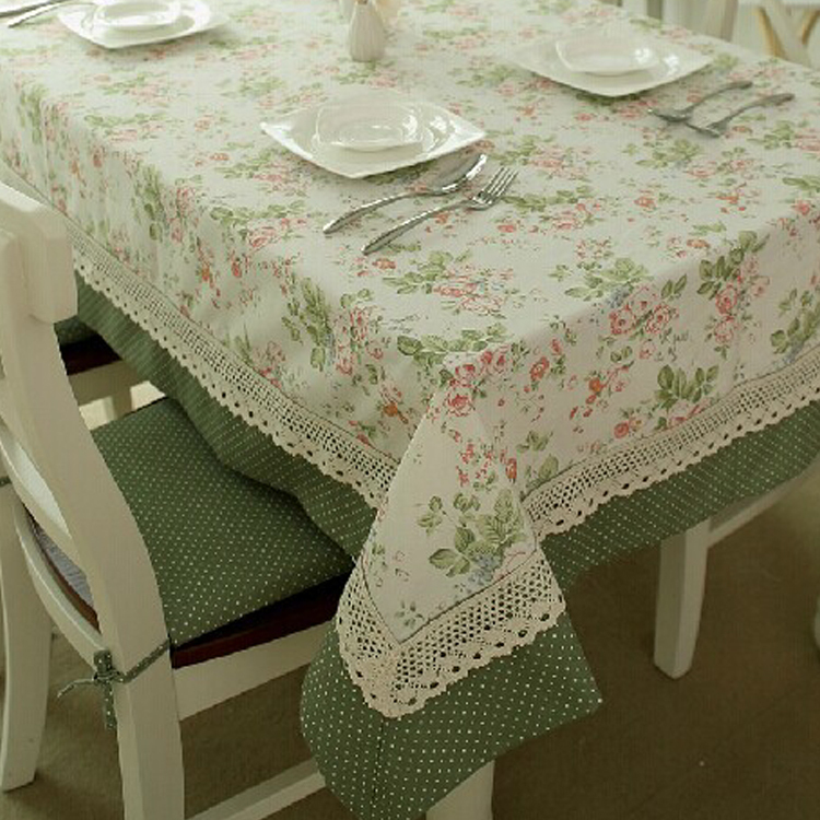 2015 Hot Sales Home Textile Pastoral Flower leaves Table Cloth Home Printed Square Floral Pattern Antependium Lace Table Runner(China (Mainland))