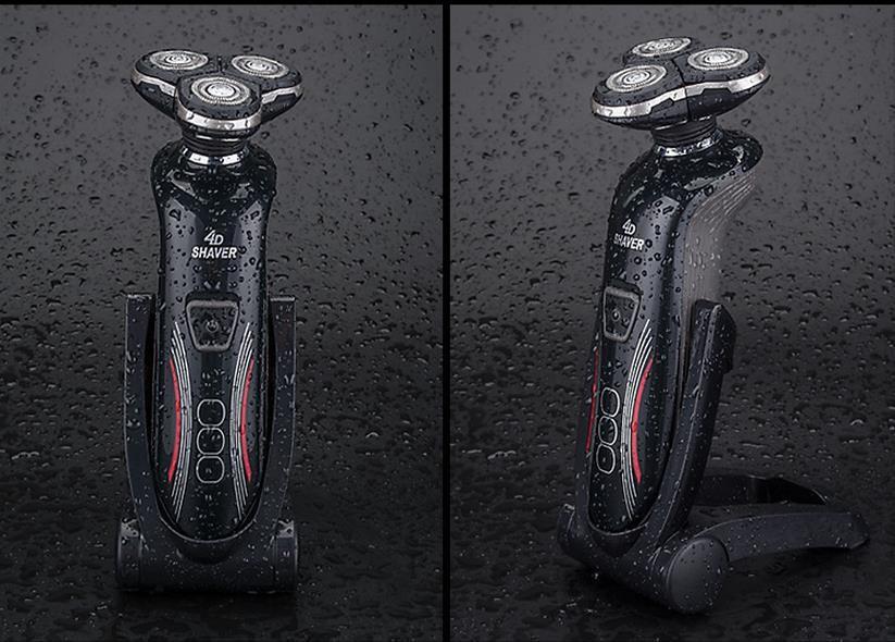 Buy Waterproof rechargeable smart men razor knife beard shaving electric machines floating four segment dual-use filling cheap
