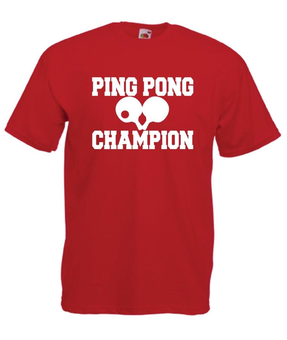 PING PONG CHAMPION new Men's T-shirts Short Sleeve Tshirt Cotton t shirts Man Clothing Wholesale(China (Mainland))