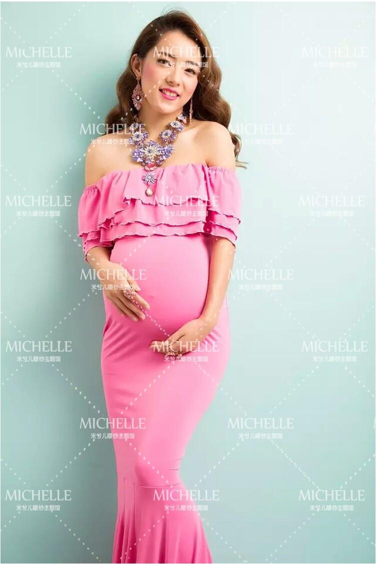 Atractivo Vestidos De Maternidad De La Fiesta Festooning - Colección ...