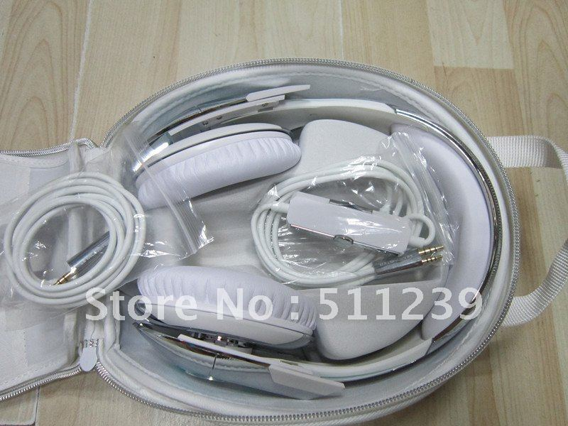 Wholesale!New Arrival LED Light On-ear Game White headphone Tron T1 headphone headband with control talk ,Free shipping!