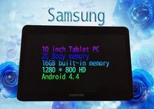 Бесплатная доставка 10-дюймовый планшетный ПК 2GB / 16GB памяти 3G называют планшетный ПК Android 4-ядерный ультра-HD 1280 * 800