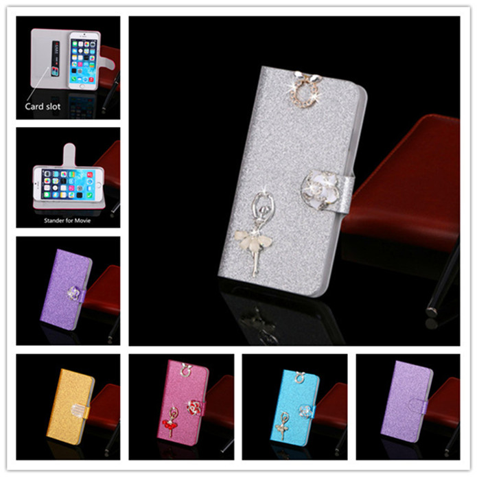 Luxury Glitter Rhinestone Phone Case For Samsung Galaxy S3 Mini i8190 Cover Flip Wallet Leather Phone Pouch For Samsung I8190(China (Mainland))