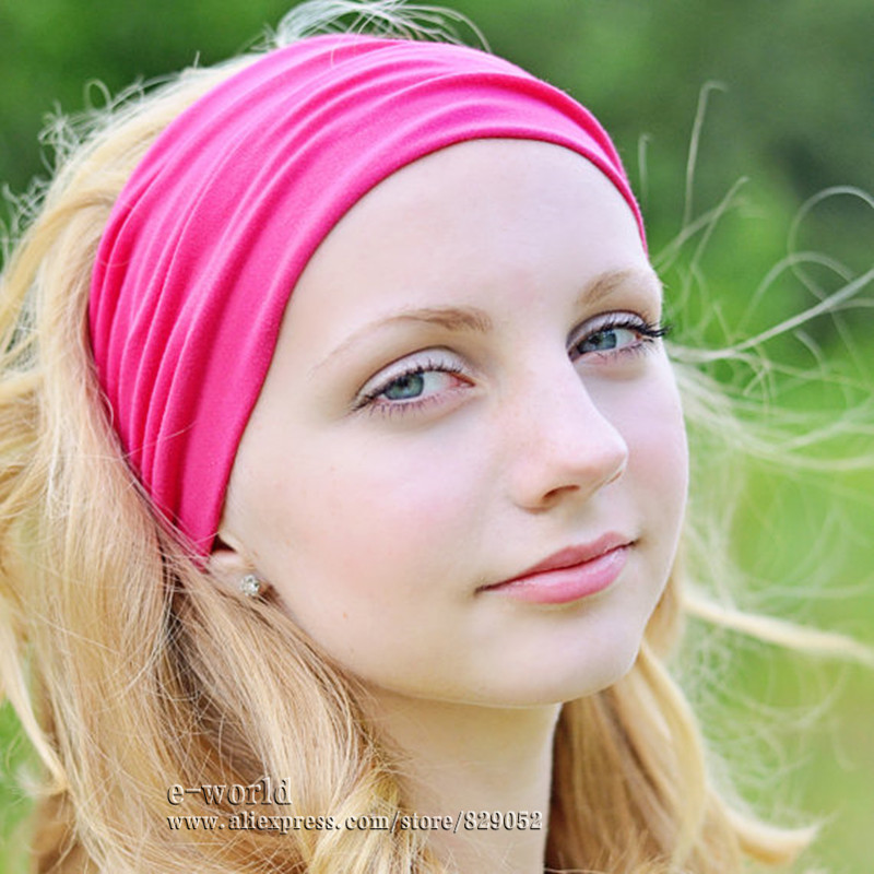Fashion week How to wide wear elastic headbands for lady