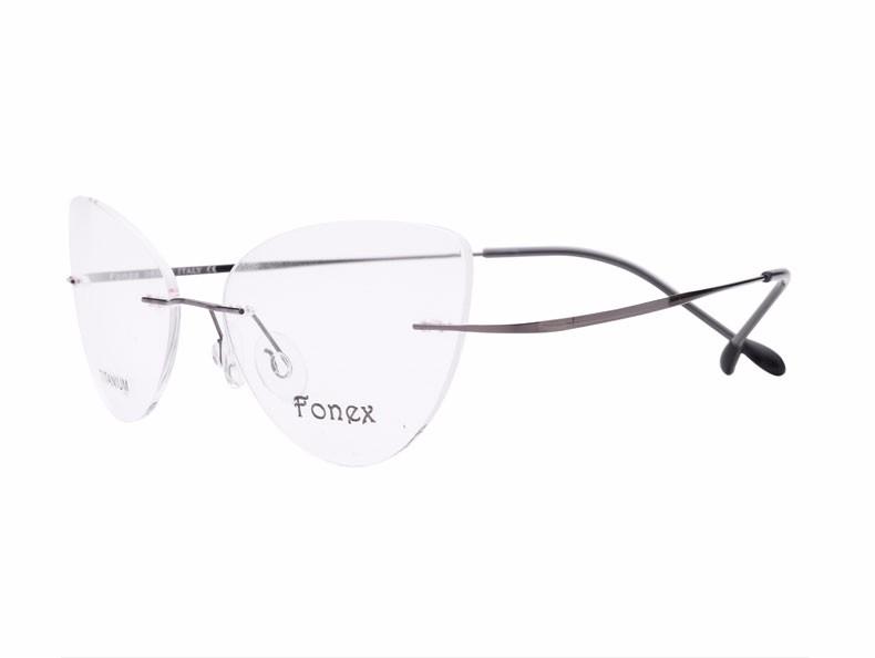 rimless women cat eye glasses silhouette fashion eyewear eyeglasses (5)