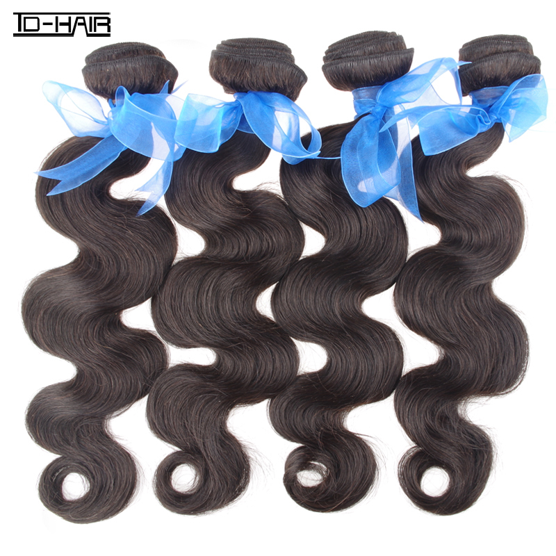 Cheap Price 5A Remy Indian Virgin Hair Body Wave bundles India body wave Natural black Color 1b# TD HAIR products(China (Mainland))