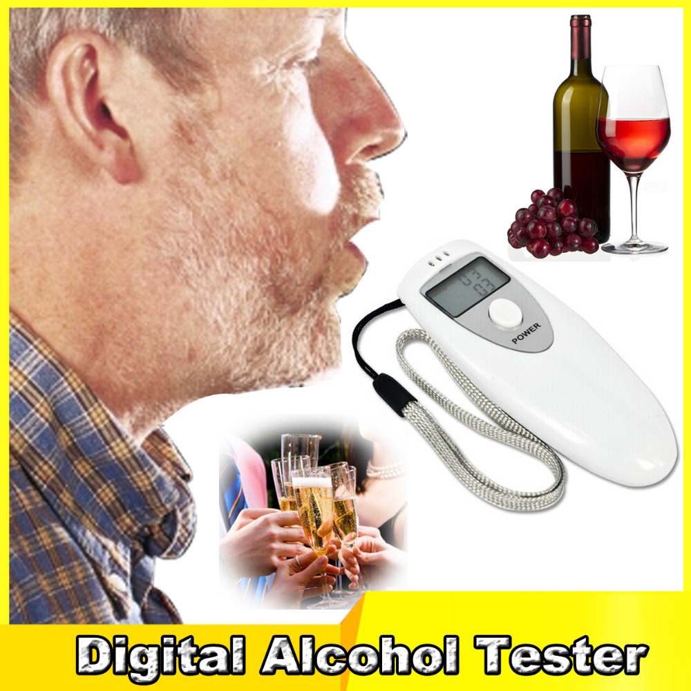 Alcohol tester Safe Driving Single LCD Displayer Analyzer Pocket Digital Alcohol Breathalyzer Detector Test Testing(China (Mainland))