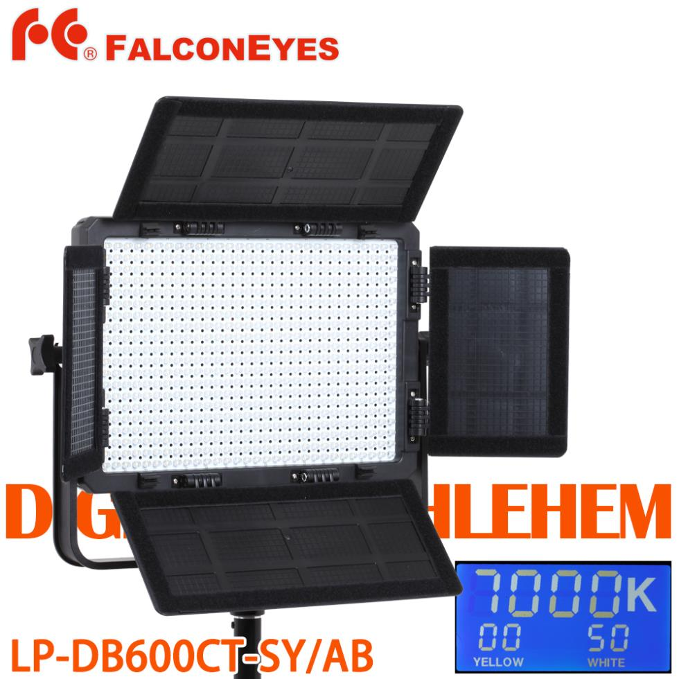 FALCON EYES LP-DB600CT 600 LED Video Light Panel 3000K-7000K LED Panel with Barndoor &amp; Bag,DHL EMS<br><br>Aliexpress