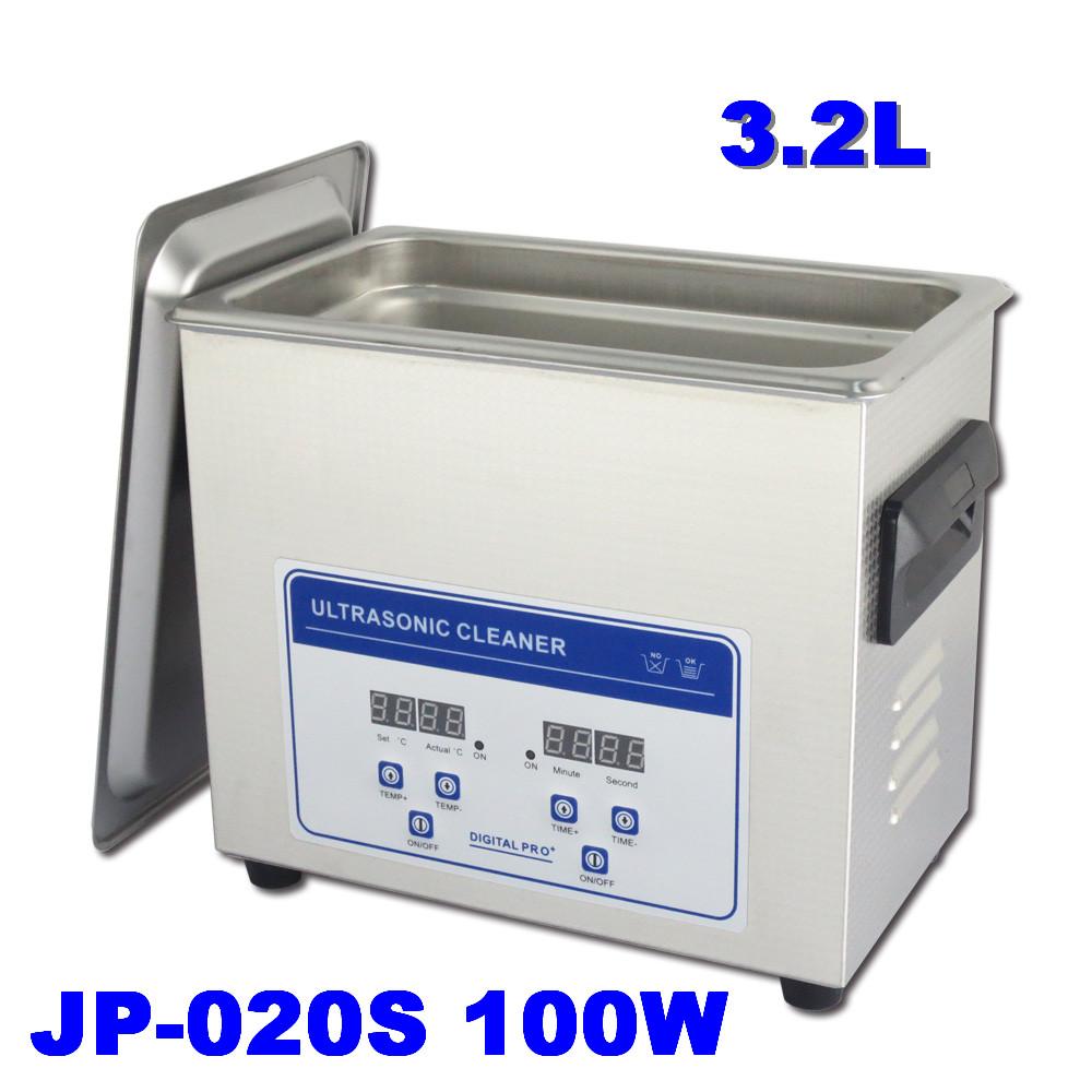 Машина ультразвуковой чистки в JP-020S ювелирные изделия очки зубные протезы, расчески, зубные щетки Очиститель ультразвуковой 3.2 Л 110~220В 100Вт