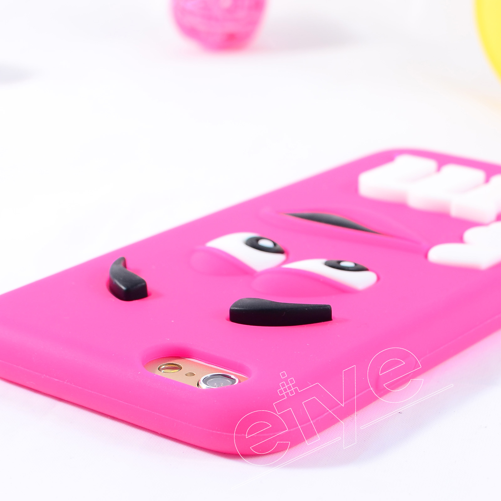 3D Cute Cartoon M&M Fashion Soft Silicon Cover Colorful Rainbow Case Skin Shell For iPhone 5 5s SE 6 6S 7 Plus iPod Touch 4 5