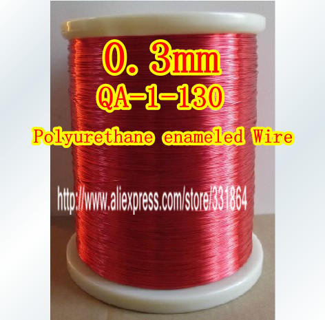 Free Shipping 0.3mm Enameled Copper wire Magnetic Coil Winding 50m / pcs QA-1-130 Red Magnet Wire(China (Mainland))