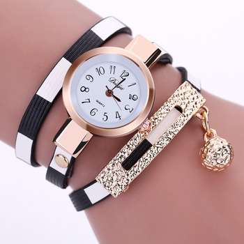 2017 New Fashion Women Watch PU Leather Bracelet Watch Casual Women Wristwatch Luxury Brand Quartz Watch Relogio Feminino Gift