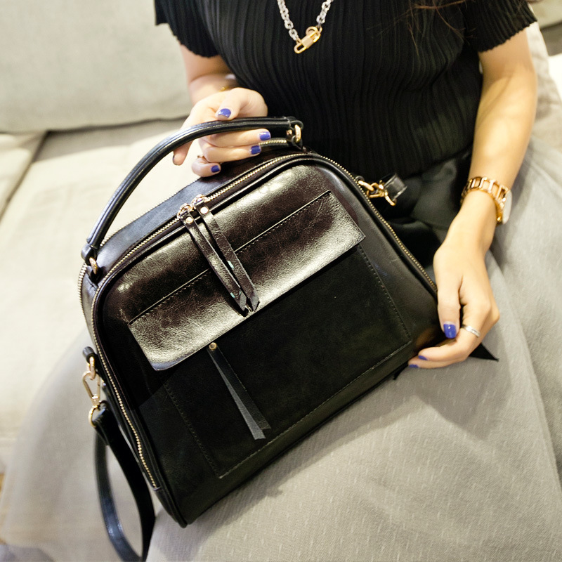 Design 2016 Bags Women Fashion  Totes Genuine Leather Handbags & Crossbody Bags Casual  Bolsas  Female Brown Bag