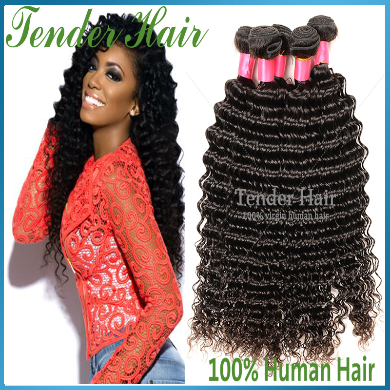 Unprocessed Peruvian Curly Hair Deep Wave Virgin 3pcs Grade 7a Peruvian Virgin Hair Bundles Beauty Forever Hair Weave Websites(China (Mainland))