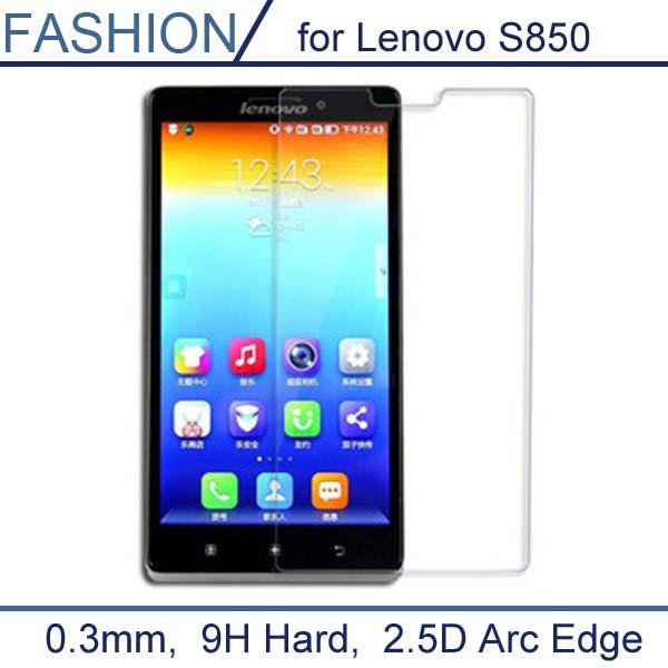Гаджет  0.3mm Premium Tempered Glass for Lenovo S850 9H Hard 0.2mm Round Border Transparent Screen Protector with Clean Tools None Телефоны и Телекоммуникации