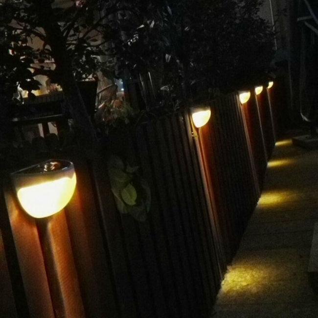 New 6 LED Solar Powered Light Sound Ray Sensor Garden Outdoor Waterproof Sound Solar Lights 200pcs