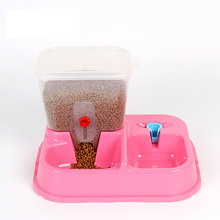 Hot Sale large Colorful Adjustable Automatic Pet Dog Feeding Bowl Cat Puppy Food Drink Water Dish dogs cats Drinking Fountain(China (Mainland))