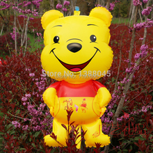 free shipping 110CM Large Size Cut Bear Cartoon Birthday Party Wedding Decoration Aluminum Foil Balloons Supplier(China (Mainland))
