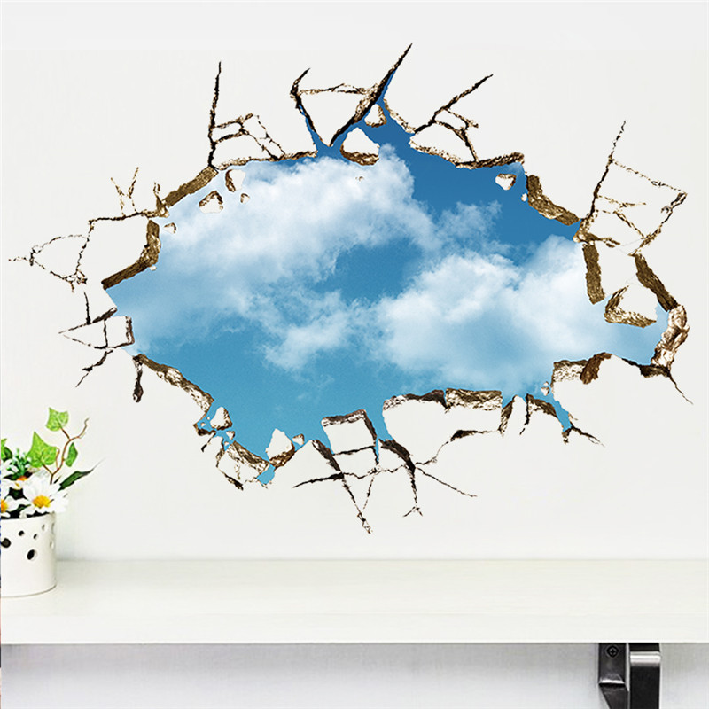 sticker remover through blue sky white clouds stickers removable